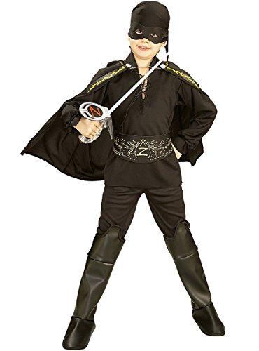 Disfraz de El Zorro para niño, caja con disfraz y accesorios, talla 3-4 años (Rubie