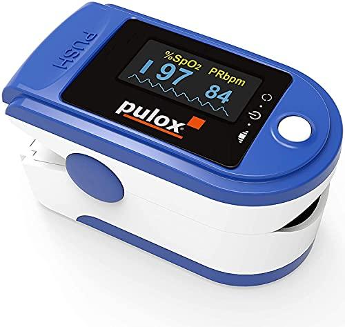 Pulsoximeter PULOX PO-200 mit LED-Anzeige inkl. Zubehör