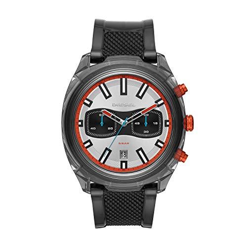 Diesel heren chronograaf kwarts horloge met PU armband DZ4509