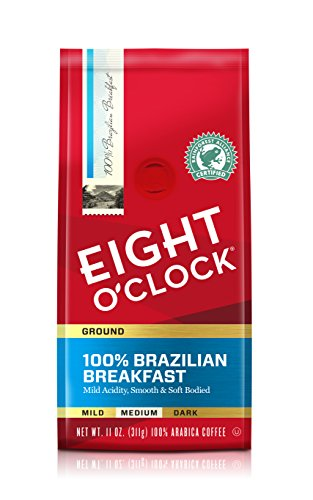 Eight O'Clock Ground Coffee, 100% Brazilian Breakfast, 11 Ounce