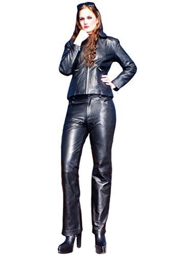 Fetish-Design Lederhose 5-Pocket Schwarz Größe L