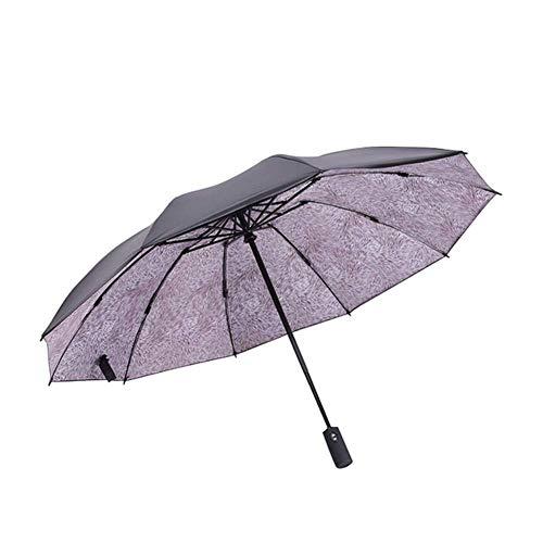DAQ Paraguas Paraguas Paraguas Paraguas Plegable 10 Huesos Paraguas Inverso Automático Paraguas A Prueba de Viento Compacto, Ligero y Conveniente, Paraguas
