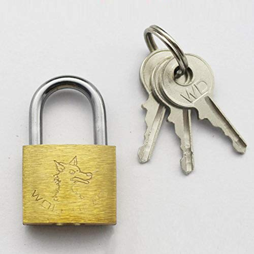 3 sleutels Bagage en opslag hangslot mooie automatische lente openen breed scala van toepassingen (geel-40cm) 20mm