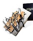 Kamisori - Tijeras de peluquería para estudiantes, 14 cm, 25 dientes más finos, maquinilla de afeitar, pulsera (K10S-R) - Distribuidor autorizado