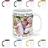 Custom Photo Coffee Mugs, 15 oz. Personalized Mugs w/ Picture, Text, Name - Personalized Gifts for V Day, Boyfriend, Girlfriend, Office, Christmas Gifts, Custom Mugs with Pictures, Taza Personalizadas