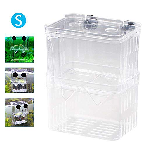 DokFin Fischzuchtbox, Fisch Isolationsbox Acryl Transparent Brüter Isolation Divider Inkubator Guppies Brutboxen für Jungfische Shrimp Clownfish und Guppy