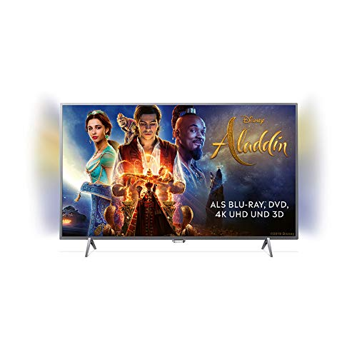 Philips TV Ambilight 32PFS6402/12 Fernseher 80 cm (32 Zoll) LED Smart TV (Full HD, Pixel Plus HD; Android TV, Triple Tuner, Cloud Gaming), Silber