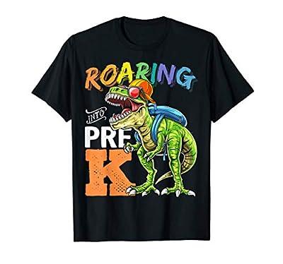 Roaring Pre-K Dinosaur Back to School Backpack Boys Gift T-Shirt