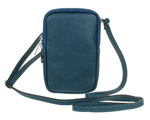 Girly Handbags Genuine Leather Crossbody Phone Bag Mini Purse Small Dark Teal