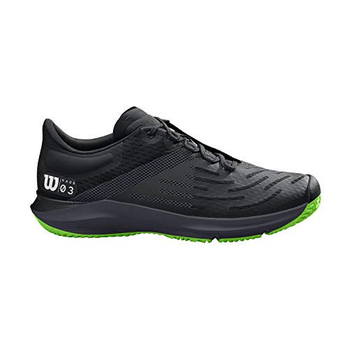 Wilson Herren KAOS 3.0 Tennisschuhe, schwarz/grün, 48 EU