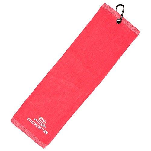 Puma Herren Handtuch Badehandtuch Duschtuch Handtuch Puma Tri-fold Towel Towels Golf PERFORMANCE GOLF Male 909219_02-Raspberry-OSFA
