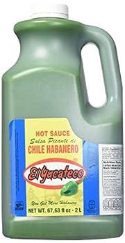 El Yucateco Habanero Hot Sauce - 68 oz - Half Gallon  Green Habanero