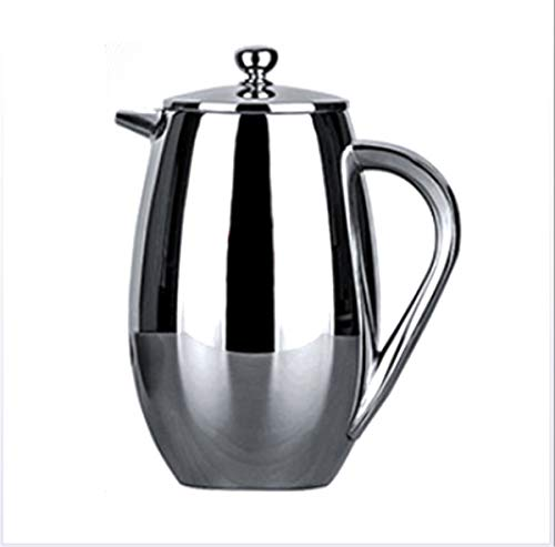 French Press Coffee Maker, Stainless Steel Insulated French Press Coffee Maker Teapot Coffee Maker with 304 Grade Stainless Steel Plunger, Coffee Maker for Home And Office,350ML