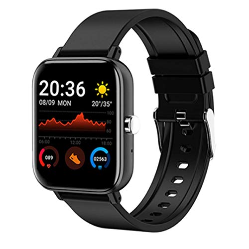 Weijie Fitness Tracker, Touch Screen Waterproof Smartwatch with Heart Rate Monitor Sleep Monitor, Waterproof Digital Watch Activity Tracker, Compatible with iPhone Android Phones (Black)