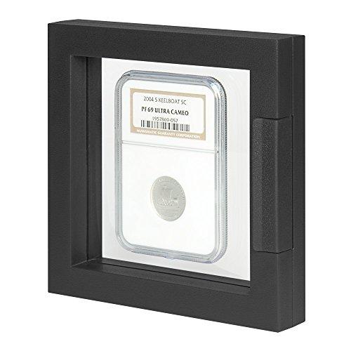 LINDNER Das Original Cadre Collection Nimbus ECO 100, Dimensions Cadre intérieur 100 x 100 x 24 mm, Noir