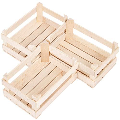 Aufbewahrungskiste 3 Kisten Holzstiegen Holzkisten Box Boxen Stiege Holzkästchen