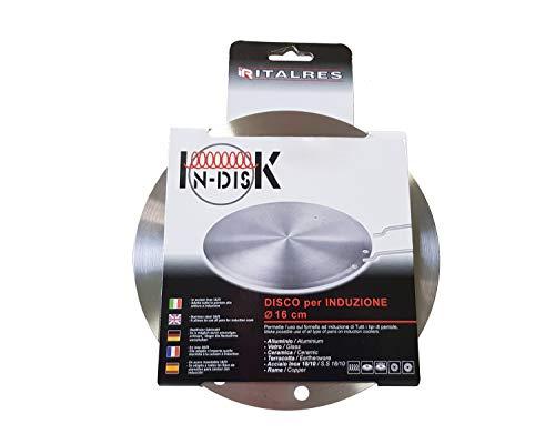 Disco Diffusore Adattatore per Piano cottura ad Induzione | Universale | Acciaio Inossidabile | 3 Misure disponibili | 24cm – 16 cm – 14,5 cm | Lavabile in Lavastoviglie | …
