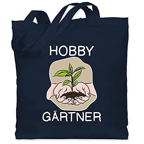 Shirtracer Hobby Outfit - Hobby Gärtner - Hände - Unisize - Navy Blau - Geschenk - WM101 - Stoffbeutel aus Baumwolle Jutebeutel lange Henkel