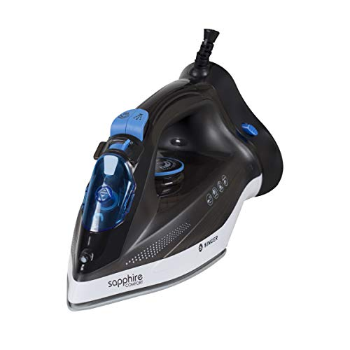 Singer Sapphire Comfort 1250 Watts Steam Iron with Detachable Base (Black)
