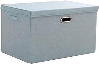 Lpiotyucwh Paniers et Boîtes De Rangement, Boîte de rangement de grande capacité, boîte de rangement en coton et en lin, b...