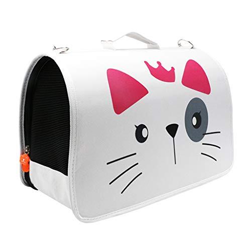 Transportines Para Mascotas, Transportín Para Gatos Con Ventilación Plegable Para Gatos Pequeños A Medianos, Bolsa De Viaje Para Perros Para Avión, Automóvil Y Tren Bolsa D(Color:Blanco,Size:1
