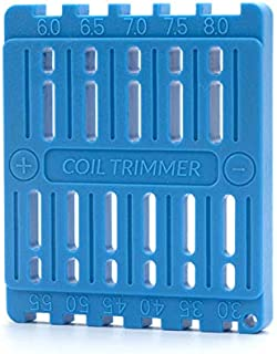 BMTD Coil Trimming Cutting Tool for Prebuilt Wire Coil Ruler Trimmer Building(Blue)