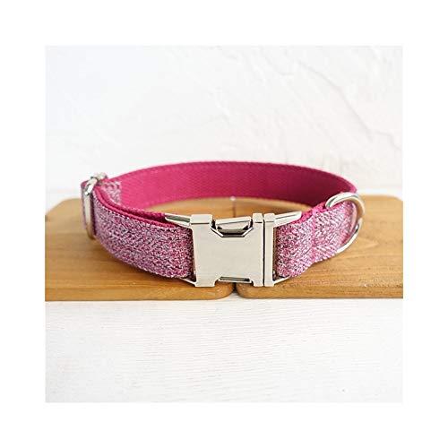 YXZQ Collar para Perros al Aire Libre Información:Característica:Nota: For Dog Decoration (Color : Pink Suit, Size : Customized)