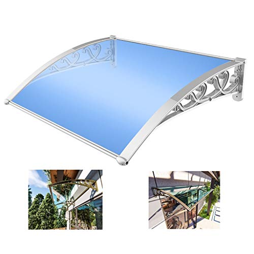 Toldo de aleación de aluminio QYQPB, toldo, ventana de balcón al aire libre, toldo impermeable para patio, 2 soportes de aleación de aluminio, 1 placa de resistencia, 80 x 80 cm