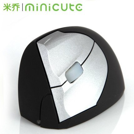MINICUTE Ergonomic Vertical Mouse Ezmouse2 Gaming Wireless 2400dpi Laser Healing Wrist Mice for Left Hand