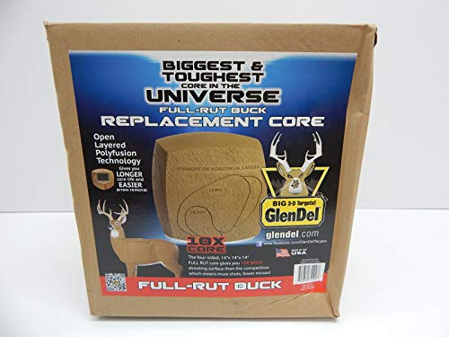GlenDel Full-Rut Buck 3D Archery Target with Replaceable Insert Core, GlenDel Full-Rut Buck insert core