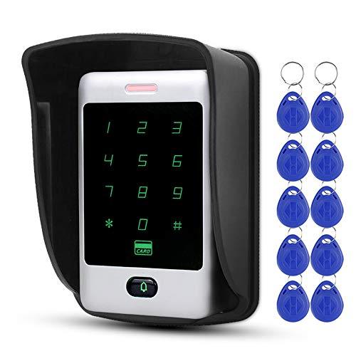 NN99 Proximidad Teclado RFID 125 KHz Control de acceso Teclado Cubierta impermeable para cerraduras de puertas Sistema de seguridad residencial 8000 usuarios Wiegand 26/34