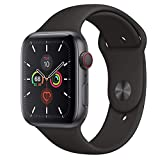 Apple Watch Series 5 GPS + Cellular - 44mm Space Gray Aluminum Case with Black...