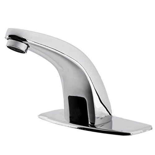 HomeDecTime Infrarot Sensor Wasserhahn Automatik IR Waschtischarmatur Waschbeckenarmatur Kaltwasser Badarmatur