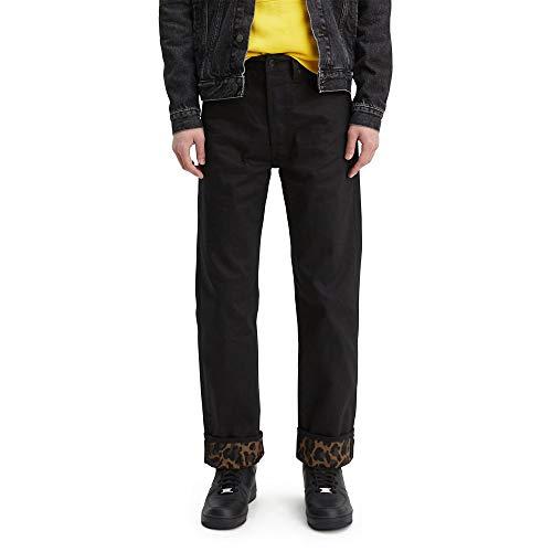 Levi's 501 Original Shrink-to-Fit Jean Jeans, Bubble Cheetah Monks Túnica Puño-Stf, 44W x 32L para Hombre