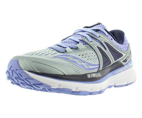 Saucony Triumph ISO 3, Zapatillas de Running Mujer, Multicolor (Grey/Purple), 38.5 EU
