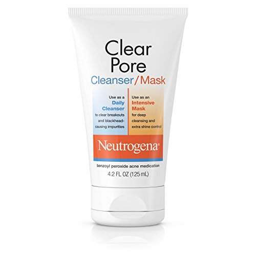 Neutrogena Clear Pore Facial Cleanser / Face Mask containing Kaolin & Bentonite Clay, Acne...