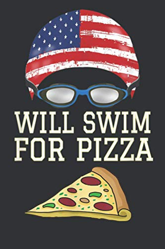 Swim Swimmer Funny Swimming Pizza Goggles Cap: Notebook Planner -6x9 inch Daily Planner Journal, To Do List Notebook, Daily Organizer, 114 Pages