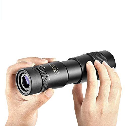 Telescopio monocular con teleobjetivo zoom 4K 10-300X40 mm, prismáticos eléctricos para adultos, con soporte para smartphone Trípode para observación de aves, caza, camping, senderismo, viajes