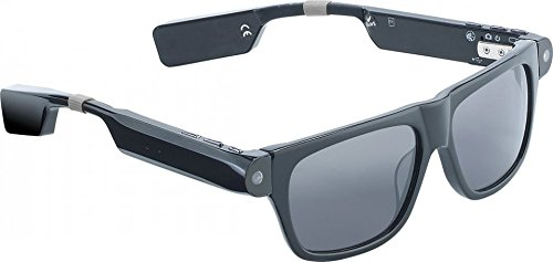 simvalley MOBILE Brille, Bluetooth: Smart Glasses SG-100.bt mit Bluetooth und 720p HD (Brille mit Kamera Bluetooth)