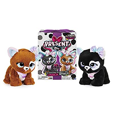 Present Pets 6059159 - Glitter Puppy Interactive Plush Pet Toy with Over 100 Sounds and Actions (Style May Vary, Only One Supplied) from Spin Master