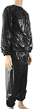 Kenmi Sweat Sauna Suits Heavy Duty Fitness Weight Loss Exercise Gym Women Men Slimming Anti-Rip PVC Tracksuit Clothes