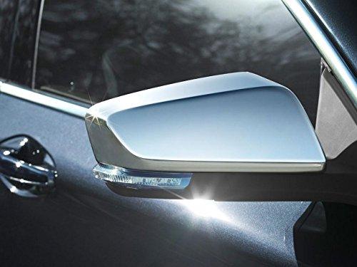 QAA fits 2014-2020 Chevrolet Impala 2 Piece Chrome Plated ABS Plastic Mirror Cover Set MC54136