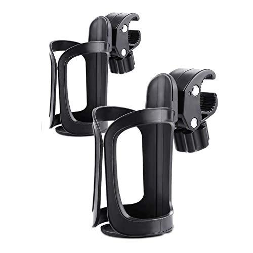 CXZC - Portabidón para bicicleta, 2 unidades, giro de 360 grados, soporte para taza de agua potable, portabotellas para cochecito, cierre rápido
