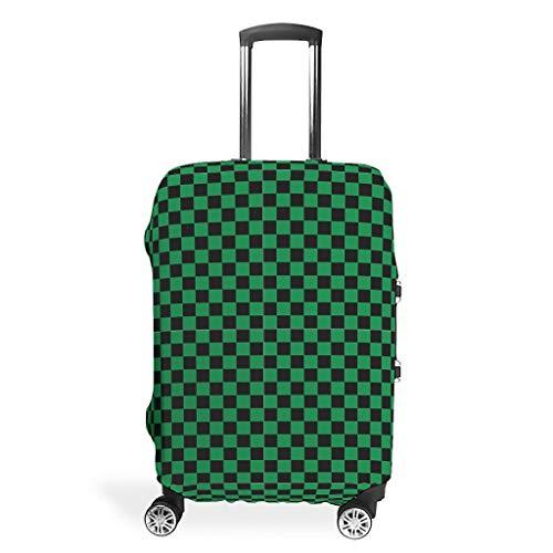 BTJC88 - Funda para Maleta de Viaje, diseño de celosía Negra y Verde, para la mayoría de Maletas, Blanco (Blanco) - BTJC88-scc