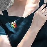 Janly - Broche de tres colores para mujer, diseño de hermana, para el día de San Valentín, Infantil Bebé-Niños Unisex adulto Hombre Bebé-Niñas infantil Mujer, A, L