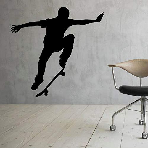 yaonuli Skateboard muur decal skateboarden tiener slaapkamer decoratie vinyl sticker muurschildering