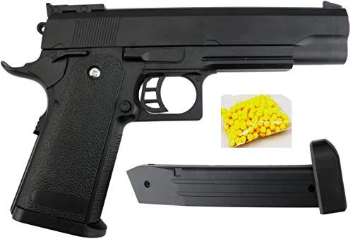 KOSxBO® Agenten - Pistola de bala (22,5 cm, con cargador y munición premium, a partir de 14 años, resistente para niños), color negro