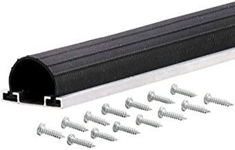 M-D Building Products 87668 18-Feet Universal Aluminum and Rubber Garage Door Bottom, Black
