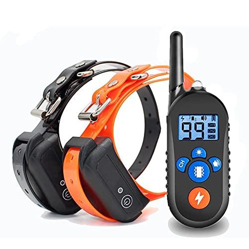 Collar de Adiestramiento Perros, Recargable y Resistencia al Agua de IP67 con un Alcance de 800m con 99 Niveles de Modo de Vibración, Advertencia de Sonido, Luz con Bloqueo de Seguridad del Teclado