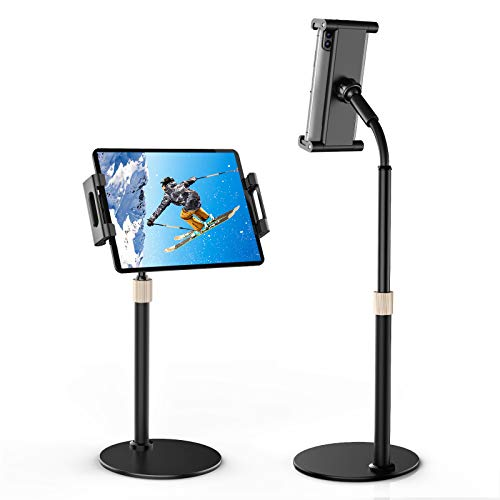 Gromise Cell Phone Stand Holder, Upgraded Height Angle Adjustable iPhone iPad Tablet Stand Holder for Desk with Stability. Compatible with 4.7-12.9' iPad Pro 12.9, Air Mini 4, Switch, Kindle, Nexus